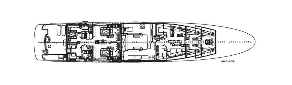 Tween Deck of Yacht